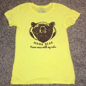 Yellow Mama Bear T-shirt